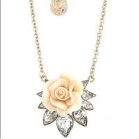 Rose Lotus Pendant Necklace