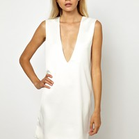 Solace London Aurora Plunge Neck Shift Dress