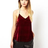 ASOS Swing Cami Top in Velvet