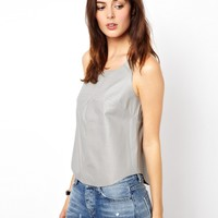 ASOS Tank in Panelled Leather
