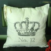 French Crown No 12 Pillow by SimplyFrenchMarket on Etsy