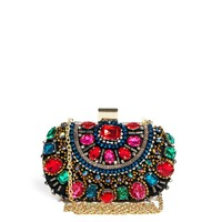 ALDO Enroelid Multicolour Gem Box Clutch Bag