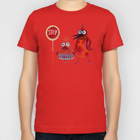 waiting for a ride Kids T-Shirt by Marianna Tankelevich