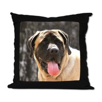 English Mastiff Dog Suede Pillow