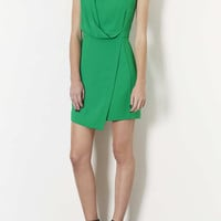 Drape Front Shift Dress