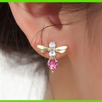 Busy Bee Austrian Crystal Earrings