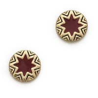 Mini Sunburst Stud Earrings