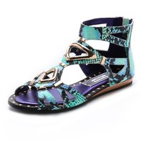 Babylon Snakeskin Sandals