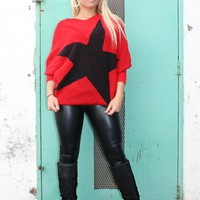 Red Sweater with Star Design (T90130)