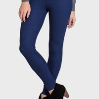 Keeping Cozy Thermal Leggings In Blue