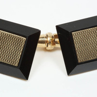 Onyx Gold Double Sided Cufflinks
