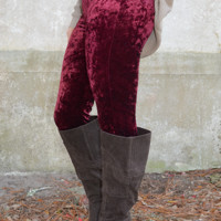 Red Velvet Cupcake Leggings: Red