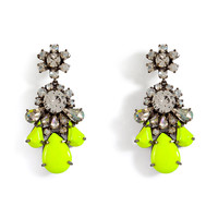 Shourouk - Neon Yellow Crystal DS Earrings