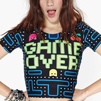 Game Over Crop Top