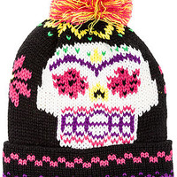 The Sugar Skull Pom Beanie