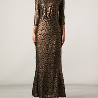 MERCHANT ARCHIVE COLLECTION metallic lace dress