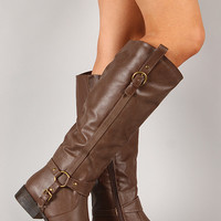 Dakkeni-7 Harness Strap Riding Knee High Boot