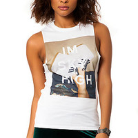 The I'm Sky High Muscle Tee in White