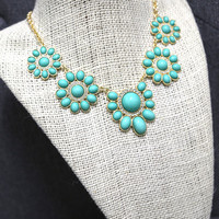 Mint Cluster Necklace