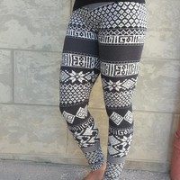 Easy To Match Printed Leggings