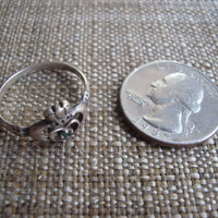 sterling silver irish claddagh ring with heart, hands and crown, size 9