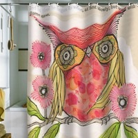 DENY Designs Cori Dantini Miss Goldie Shower Curtain, 69-Inch by 72-Inch