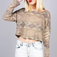 Terrain Cropped Knit