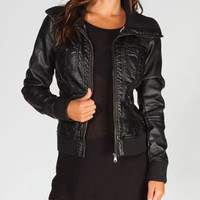FULL TILT Knit Collar Womens Bomber Jacket