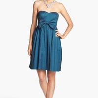 Hailey by Adrianna Papell Bow Detail Taffeta Fit & Flare Dress | Nordstrom