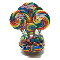 Small Rainbow Candy Centerpiece, Rainbow Lollipop Centerpiece, Candy Buffet, Rainbow, Candy, Lollipop, Centerpiece, Arrangement, Birthday