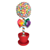 Small Rainbow Lollipop Topiary, Candy Topiary. Edible Centerpiece, Lollipops, Candy Buffet, Centerpiece, Rainbow, Birthday, Wedding, Candy