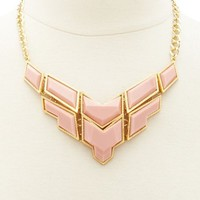 GEOMETRIC STONE STATEMENT NECKLACE