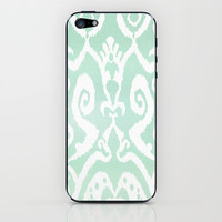 ikat in sagefoam iPhone & iPod Skin by Miranda J. Friedman