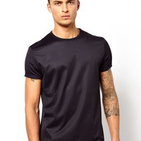 ASOS T-Shirt With Mesh And Roll Sleeves
