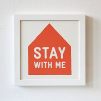 Silkscreen, Stay With Me, Print, red