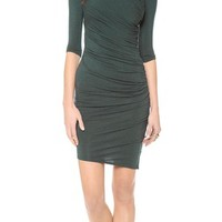 Nova Jersey Ruched 3/4 Sleeve Dress