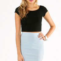 Short and Scoop Crop Top $20