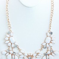 Ivory Five Piece Petal Necklace Set