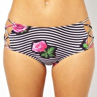 Motel Sandrift Mid Waist Strappy Bikini Brief