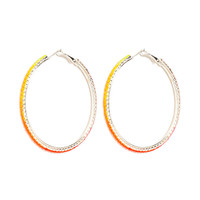Tom Binns - Pink/Orange/Yellow Dégradé Hoop Earrings