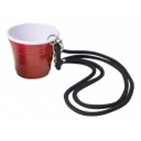Red Cup 2 oz. Shot Glass With Lanyard
