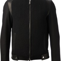 DSQUARED2 ribbed biker jacket