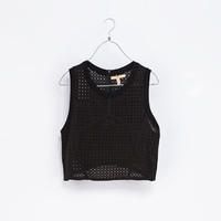 CUT-OUT CROP T-SHIRT