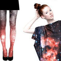 SPECIAL Crimson Galaxy Tights and Spandex Dress Special