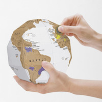 DIY Scratch-Off Globe - Urban Outfitters