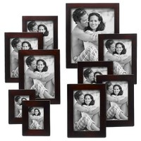 Linear Wood 10 Piece Frame Set - Walnut