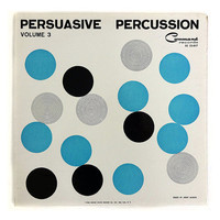 "Josef Albers record album design, 1960. ""Persuasive Percussion, Vol. 3"" LP"