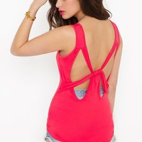 Bow Down Tank - Coral in Clothes Tops Tanks at Nasty Gal