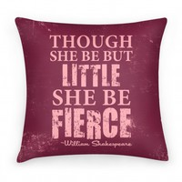 Little But Fierce Pillow (Rose)