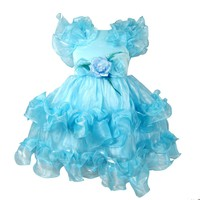 Buenos Ninos Baby Girls Chiffon Ruffle Party Dress